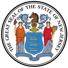 The Great Seal of the State of New Jersey certifying that The Hairports at Cranbury, LLC is a WBE owned and controlled company