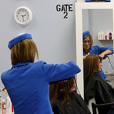 Hair stylist at Hairports Blow Dry Bar